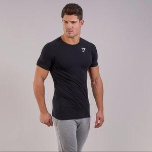 Gymshark Black Form T-shirt- Medium
